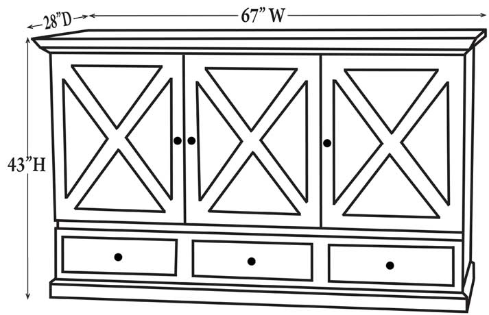 Guest Chest Dimensions - Closed