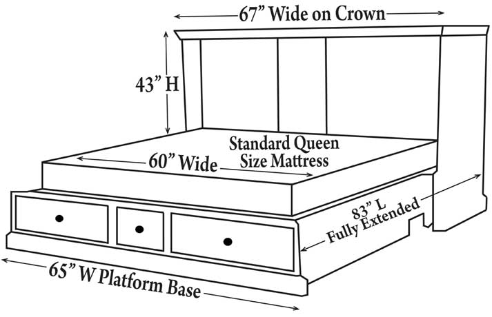 Guest Chest Dimensions - Opened